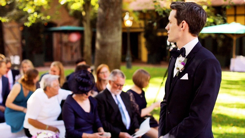 Hochzeit Hofgut von Hünersdorff Bräutigam